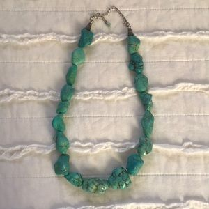Jewelry - Boho Turquoise look Stone Statement Necklace